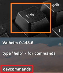 Valheim Open Console Command March 2021