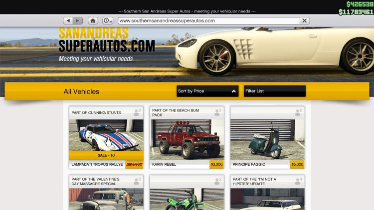 Image showing How to Get the Lampadati Tropos Rallye Free in GTA Online.